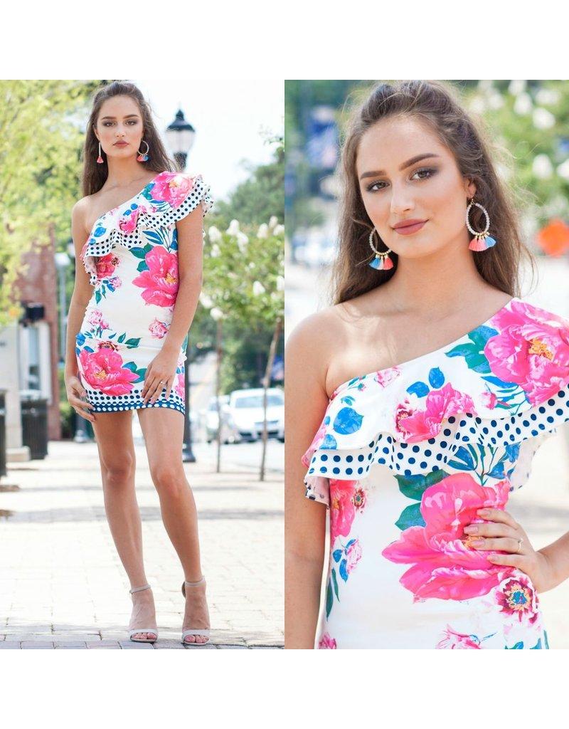 Dresses 22 Dot to Dot White Floral Dress