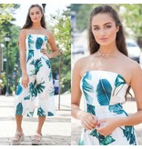 Rompers 48 Palm Tree Sway Strapless Jumpsuit