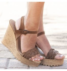 Shoes 54 Braided Tan Wedge