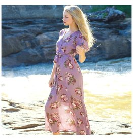Dresses 22 Blooming Summer Purple Floral Maxi