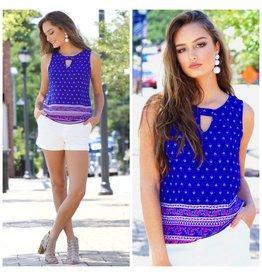 Dresses 22 True Colors Cobalt Blue Pattern Top