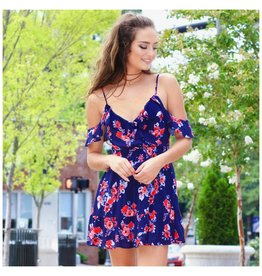 Dresses 22 Celebrate in Navy Blooms Dress