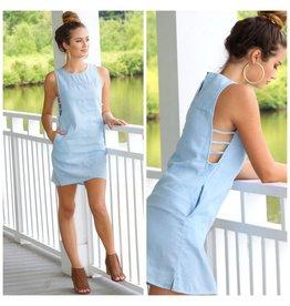Dresses 22 Cut Out Light Denim Dress