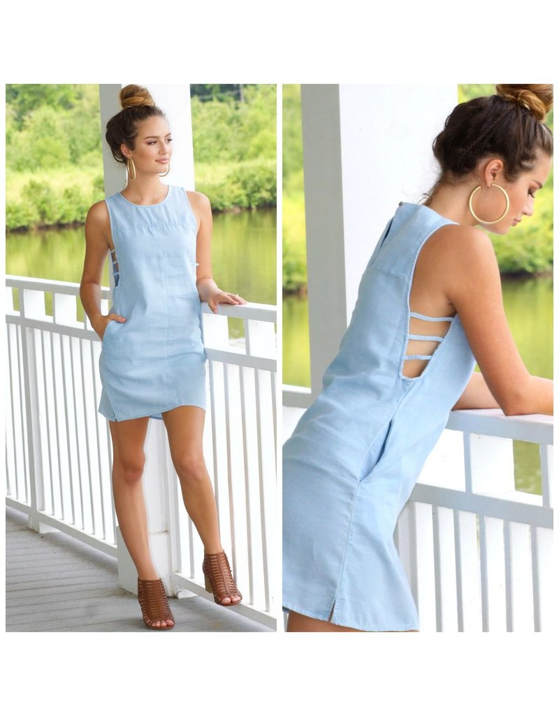 Dresses 22 Cut Out Light Denim Dress