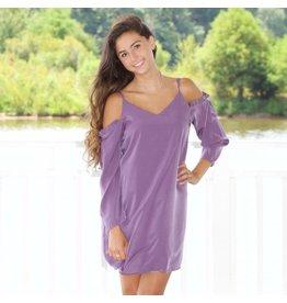 Dresses 22 Cold Shoulder Dusty Purple Dress