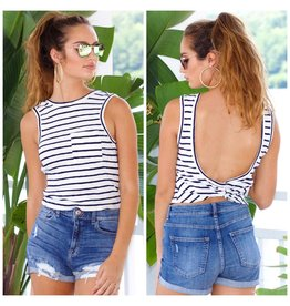 Tops 66 Take The Plunge Stripe Top