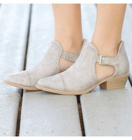 Shoes 54 Cut Out For You Grey Booties