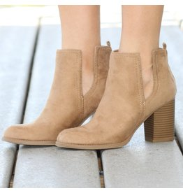 Shoes 54 Step Into My Natural Suede Bootie