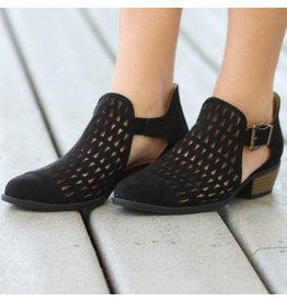 Shoes 54 Street Strides Cut Out Black Booties
