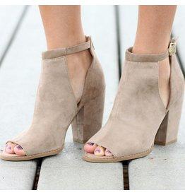 Shoes 54 Peep Toe Taupe Heel