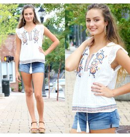 Tops 66 Lace and Love Embroidered Top