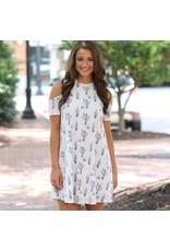 Dresses 22 Cold Shoulder Cactus Dress