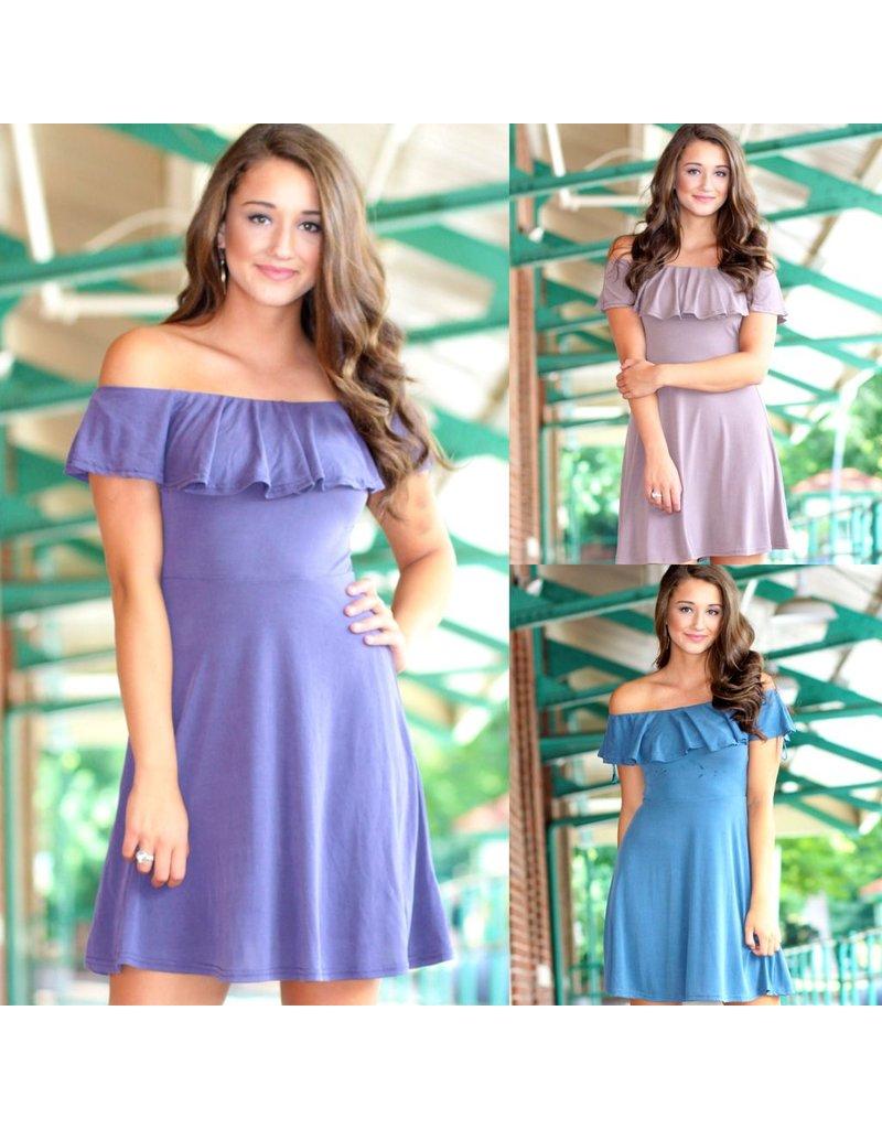 Dresses 22 Falling For You Off Shoulder Dress