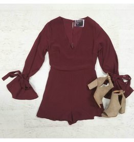 Rompers 48 Class Act Burgundy Romper