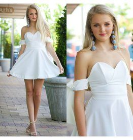 Dresses 22 Sun On My Shoulders White Flare Dress