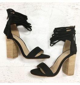 Shoes 54 Mirage Summer Black Tassel Sandal