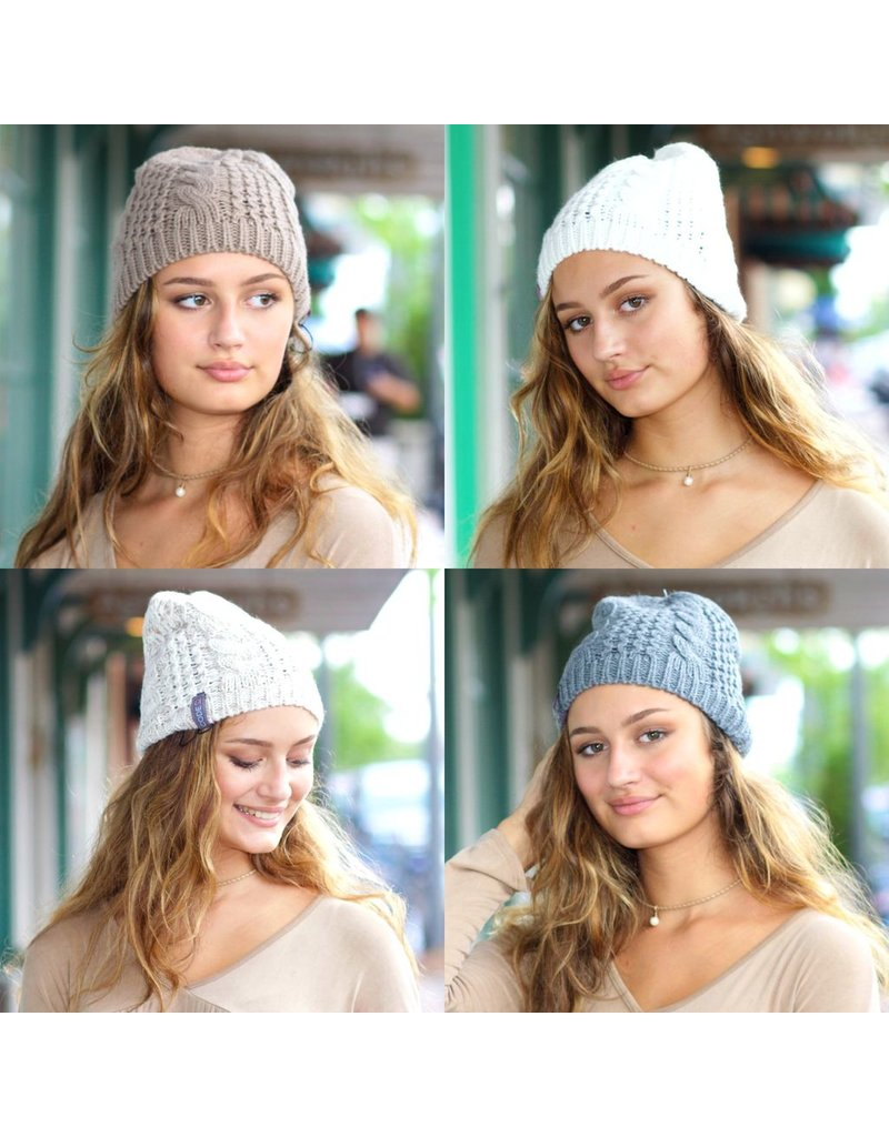 Accessories 10 Fall/Winter Cable/Zigzag Pattern Hat
