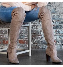 Shoes 54 Taupe Time Tall Lace Up Boots