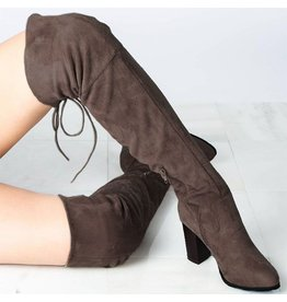 Shoes 54 Over The Knee Lace Up Brown Tall Boots