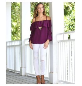 Tops 66 Cool And Collected Cold Shoulder Top