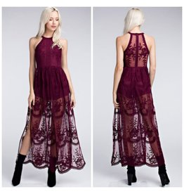 Rompers 48 Sheer Perfection Fall Maxi Romper