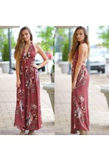 Dresses 22 Fall Florals Open Back Rose Maxi