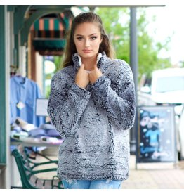 Outerwear Fall Sherpa Charcoal Pull Over