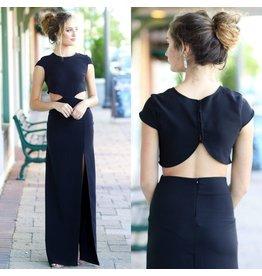 Dresses 22 Night To Remember Backless Black Maxi Dress