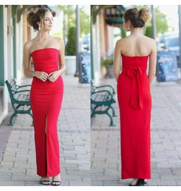 Dresses 22 Every Moment Counts Strapless Red Maxi Dress