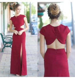 Dresses 22 Night To Remember Backless Burgundy Maxi Dress