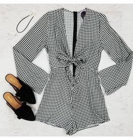 Rompers 48 You Got Plaid Front Tie Gingham Romper