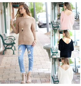 Tops 66 Unforgettable Fall Back V Chenille Sweater