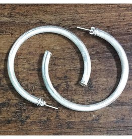 Jewelry 34 Medium Silver Hoop Earrings