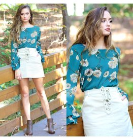 Tops 66 Best Impressions Teal Floral Top