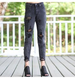 Pants 46 Match Maker High Rise Black Denim Mom Jeans