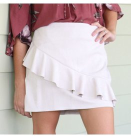 Skirts 62 Fall Forward Suede Ruffle Stone Skirt