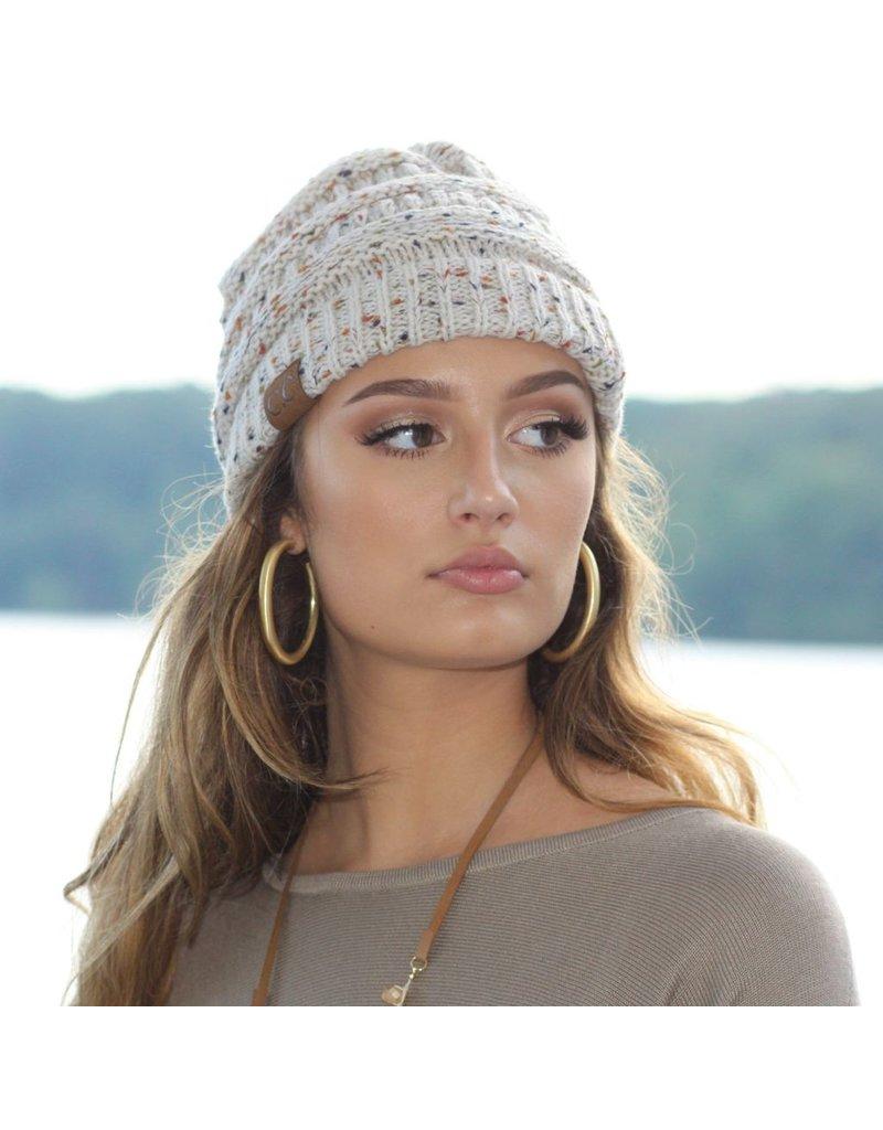 Accessories 10 Winter Beige Confetti CC Doll Hat