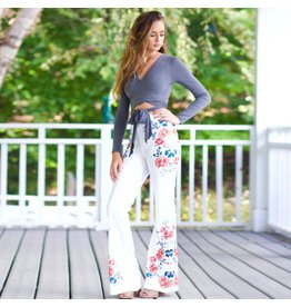 Pants 46 Ring My Bells Ivory Floral Pants