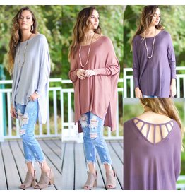Tops 66 Fall Vibes Strappy Back Sweater