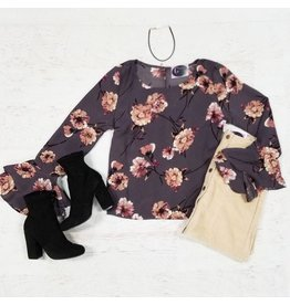 Tops 66 Best Impressions Dusty Purple Floral Top