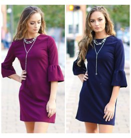 Dresses 22 Fall Occasion Ruffle Sleeve Dress