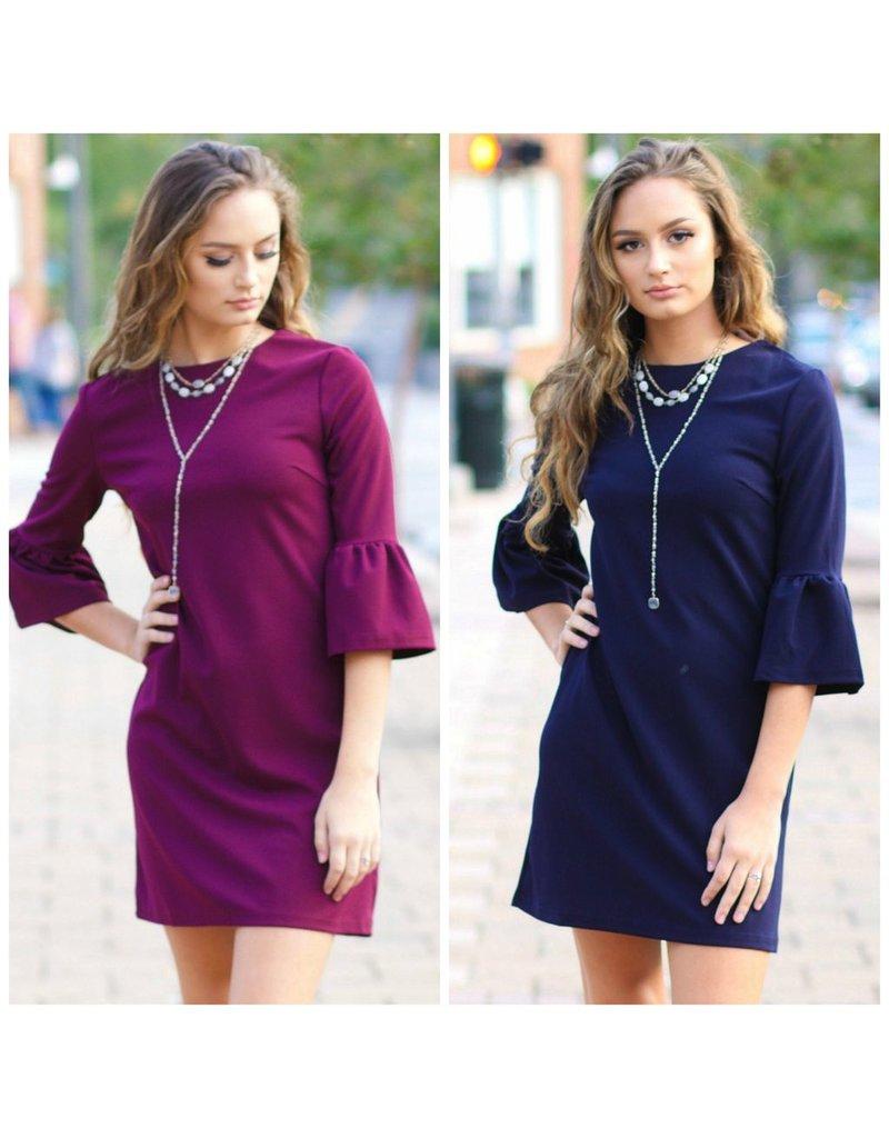 Dresses 22 Fall Occasion Ruffle Sleeve Dress