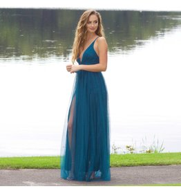 Dresses 22 Swept Away Teal Tulle Maxi