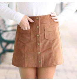 Skirts 62 Trend Setter Brown Cordoroy Skirt