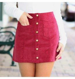 Skirts 62 Trend Setter Burgundy Cordoroy Skirt