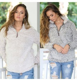 Tops 66 Lazy Sunday Sherpa Pullover