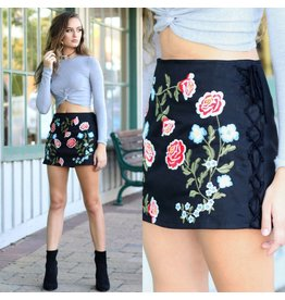 Skirts 62 Embroidered Lace Up Skirt