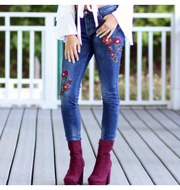 Pants 46 Embroidered Denim Jeans