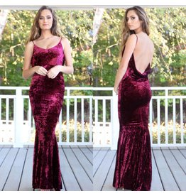 Dresses 22 Velvet Romance Plunging Back Dress