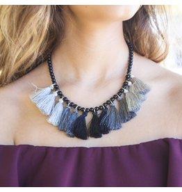 Jewelry 34 Tassel Party Grey Necklace